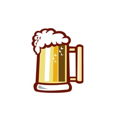 Beer Stein Isolated Retro vector image