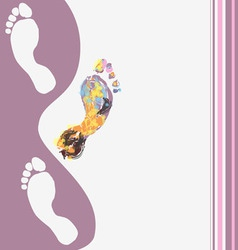 Abstract footprints background vector