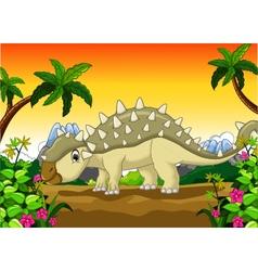 Ankylosaurus Dinosaur cartoon for your design vector image