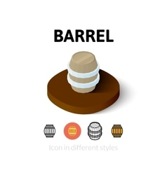 Barrel icon in different style vector image