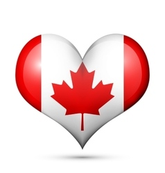 Canada heart flag icon vector