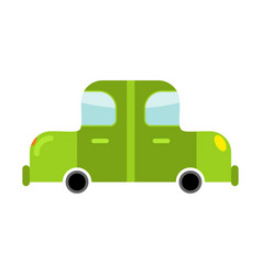 Car green isolated transport on white background vector