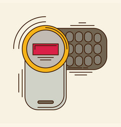 cell phone flat icon vector image