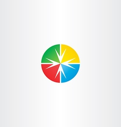 Circle arrow target point icon vector