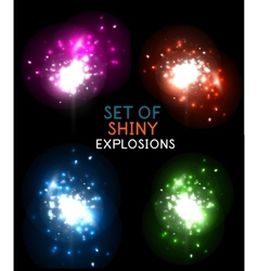 Explosion with sparkles design collection vector image vector image