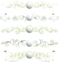Golf floral banners vector