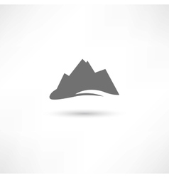 grey mountains symbol vector image vector image