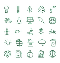 Icons ecology and environment vector
