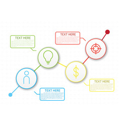 Infographic workflow layout diagram number vector