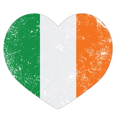 Ireland heart retro flag St Patricks Day vector image vector image