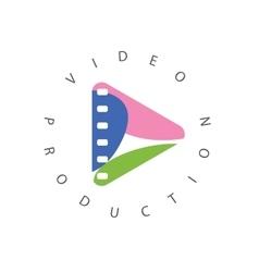 Logo abstract play button vector