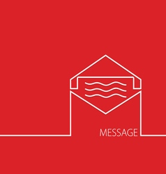 message in red vector image