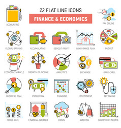 money process finance and economic icons set sign vector image