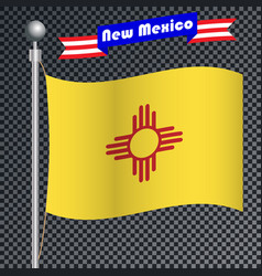 National flag of new mexico vector