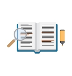 Open book studying vector image vector image