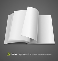 Open white page magazine vector image