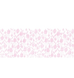 Pink textile tulips texture horizontal seamless vector image vector image