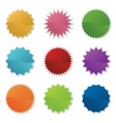 retro stickers vector image vector image