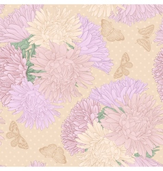 Seamless background with bouquet flowers vector
