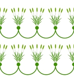 Seamless plant border vector image