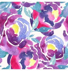 Seamless watercolor rose floral pattern vector