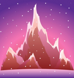 snow mountain vector illustration vector image vector image