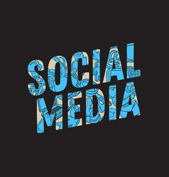 Social media design with isolated essential vector