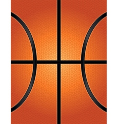 Textured basketball closeup background vector