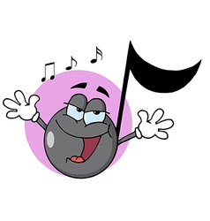 Singing Music Note vector image