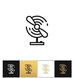 Portable electric fan line icon vector image