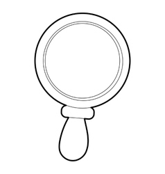 Magnifier icon outline style vector