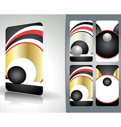 Beautiful business card set vector image