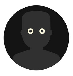 frightened man in the darkness icon isolated vector image
