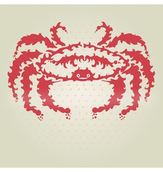 Decorative crab vector