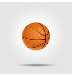 Basketball ball isolated on white with shadow vector image