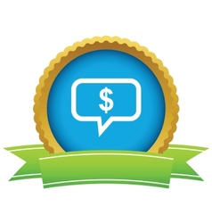 Financial message icon vector