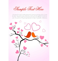 Valentine card with birds vector