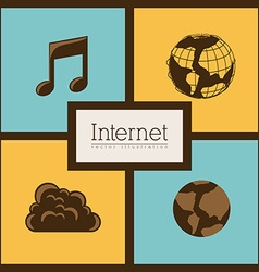 Internet icon design vector