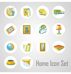 Home icons set 14 objects in the same style vector image