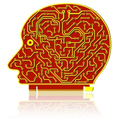 High tech circuit board vector