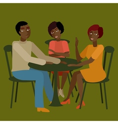 African family having conversation vector