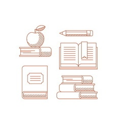 Simple set of books vector