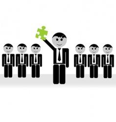 team leader vector image