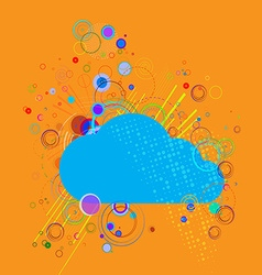 cloud on abstract background vector image