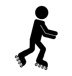 Skate sport isolated icon design vector