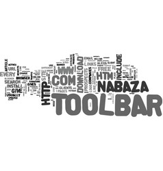 A toolbar for each text word cloud concept vector