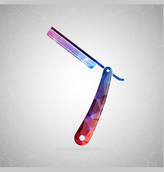 abstract creative concept icon of razor vector image vector image