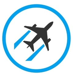 Air jet trace rounded icon vector