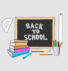 back to school handdrawing colored vector image