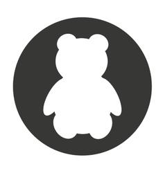 bear teddy cute animal character farm vector image